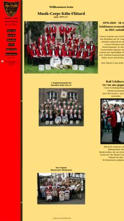 Vorschau der mobilen Webseite www.musikcorps-flittard.de, Musik-Corps Köln-Flittard