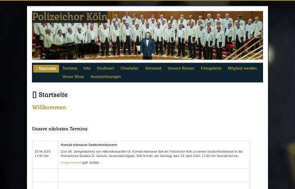 Vorschau von polizeichorkoeln.de, Polizeichor Köln