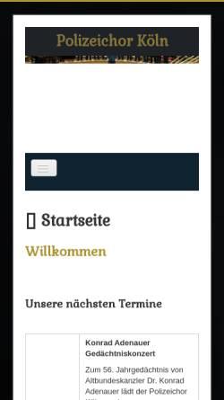 Vorschau der mobilen Webseite polizeichorkoeln.de, Polizeichor Köln