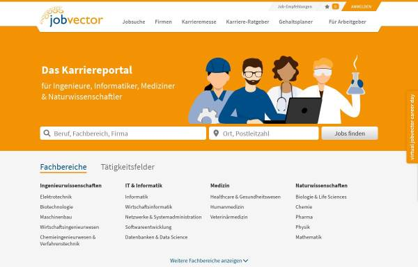 Vorschau von www.jobvector.com, Jobvector - Capsid GmbH