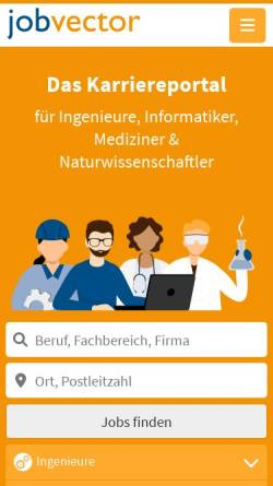 Vorschau der mobilen Webseite www.jobvector.com, Jobvector - Capsid GmbH