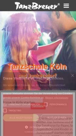 Vorschau der mobilen Webseite tanzschule-breuer-koeln.de, Tanzschule Breuer GbR