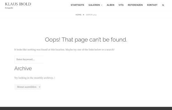 Vorschau von www.truephotos.de, Fotoausstellung von Klaus Ibold