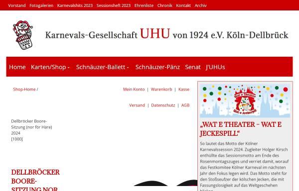 Vorschau von www.haere-sitzung.de, Karnevalsgesellschaft UHU von 1924 e.V., Köln-Dellbrück