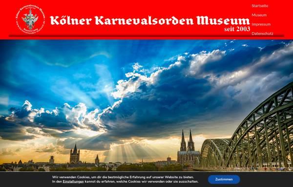 Vorschau von www.karnevalsorden-museum.de, Karnevalsorden-Museum