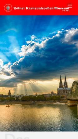 Vorschau der mobilen Webseite www.karnevalsorden-museum.de, Karnevalsorden-Museum