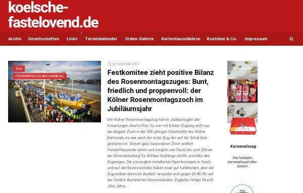 Vorschau von www.koelsche-fastelovend.de, Koelsche-Fastelovend.de