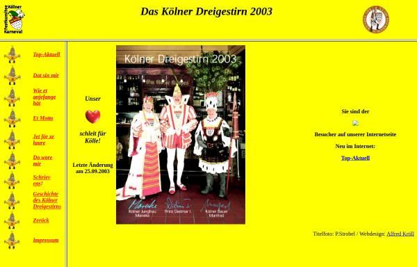 Vorschau von www.dreigestirn2003.de, Kölner Dreigestirn 2003