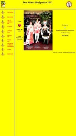 Vorschau der mobilen Webseite www.dreigestirn2003.de, Kölner Dreigestirn 2003