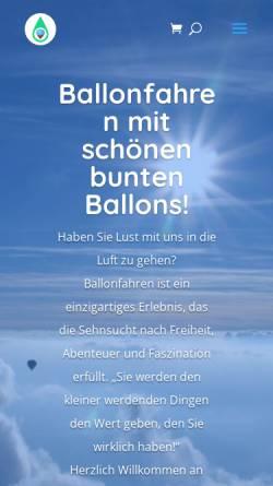 Vorschau der mobilen Webseite www.ballonfahren.org, ABC Ballonfahrten