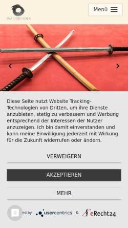 Vorschau der mobilen Webseite www.das-dojo-koeln.de, Aikido-Kreis Köln