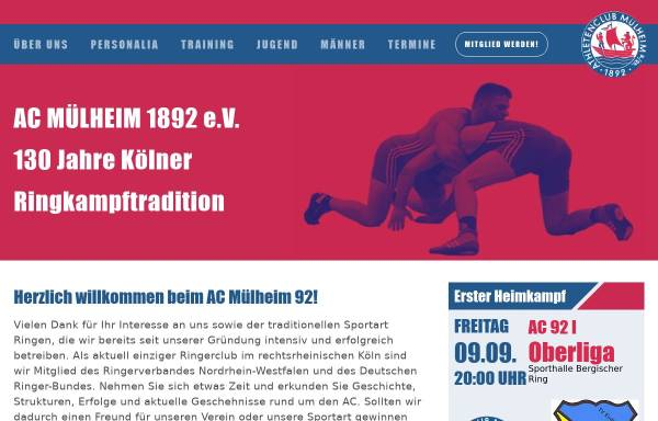 Vorschau von ac-muelheim1892.de, Athleten-Club Mülheim am Rhein von 1892 e.V.