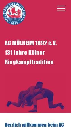 Vorschau der mobilen Webseite ac-muelheim1892.de, Athleten-Club Mülheim am Rhein von 1892 e.V.