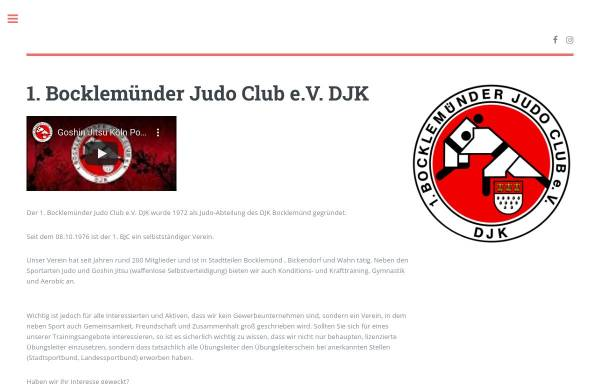 Vorschau von www.bocklemuender-judo-club.de, 1. Bocklemünder Judo Club e.V. DJK