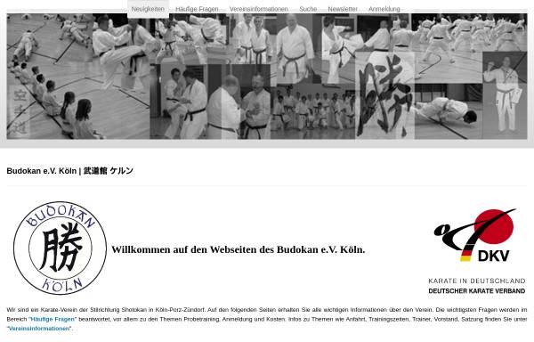 Vorschau von www.budokan-koeln.de, Budokan e.V. Köln