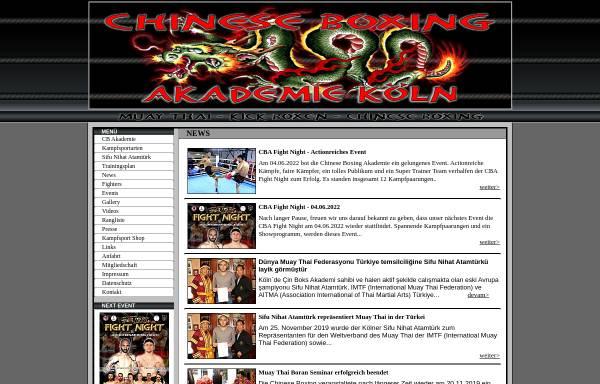 Vorschau von www.chineseboxing-akademie.de, Chinese Boxing Akademie