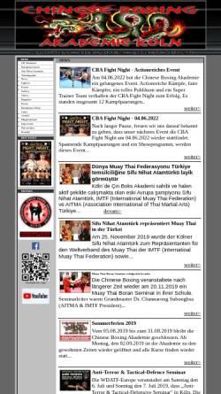 Vorschau der mobilen Webseite www.chineseboxing-akademie.de, Chinese Boxing Akademie