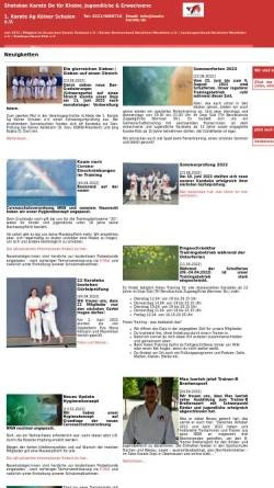 Vorschau der mobilen Webseite www.koeln-karate.de, 1. Karate AG Kölner Schulen e.V. - Shotokan-Karate-Do