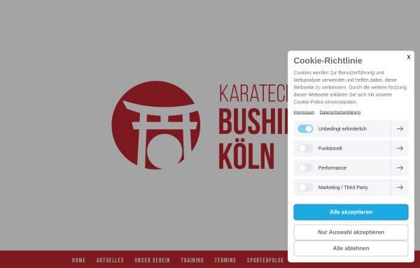 Vorschau von www.bushido-koeln.de, 1. Kölner Karateclub Bushido 1961 e.V.
