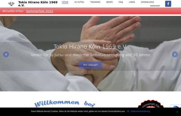 Vorschau von www.tokio-hirano.de, Tokio-Hirano Köln e.V.