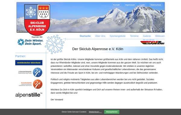 Vorschau von www.skiclub-alpenrose-koeln.de, Skiclub Alpenrose e.V.