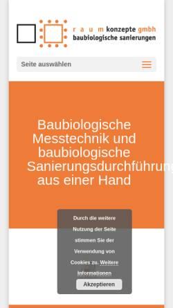 Vorschau der mobilen Webseite www.raumkonzepte-baubiologie.de, Baubiologische Sanierungen