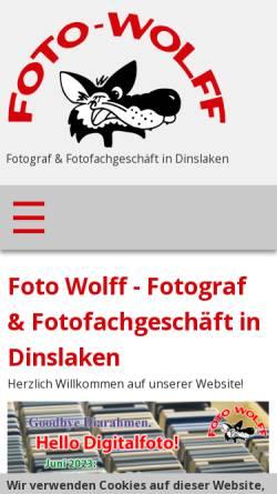 Vorschau der mobilen Webseite www.foto-wolff.de, Foto Wolff