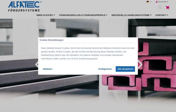 Vorschau von www.alfatec.biz, Alfatec GmbH Fördersysteme