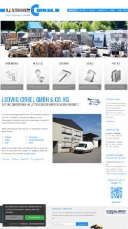 Vorschau der mobilen Webseite www.cirkel-baustoffe.de, Baustoffe Ludwig Cirkel KG