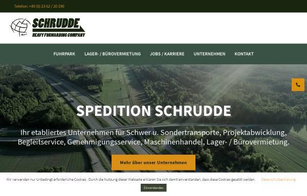 Vorschau von www.spedition-schrudde.de, Spedition Gregor Schrudde