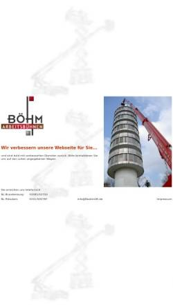 Vorschau der mobilen Webseite www.boehmlift.de, Böhm-Lift GmbH