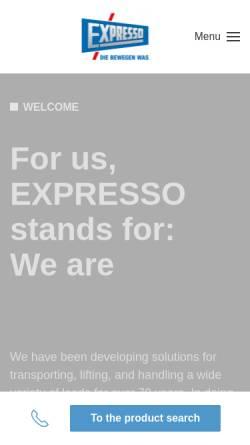 Vorschau der mobilen Webseite www.expresso.de, Expresso Deutschland GmbH