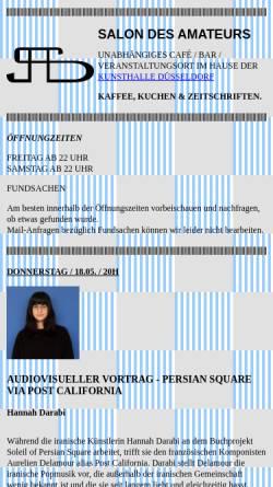 Vorschau der mobilen Webseite salondesamateurs.de, Salon des Amateurs