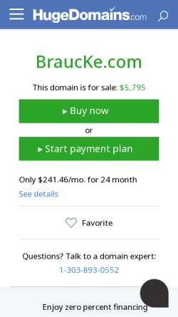 Vorschau der mobilen Webseite www.braucke.com, Gebr. von Braucke GmbH & Co. KG