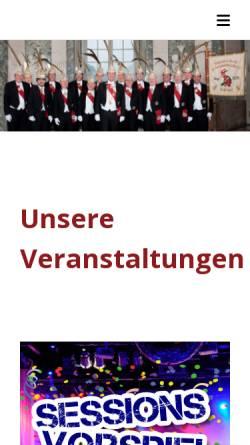 Vorschau der mobilen Webseite www.avdk-duesseldorf.de, Allgemeiner Verein der Karnevalsfreunde 1829 e.V.