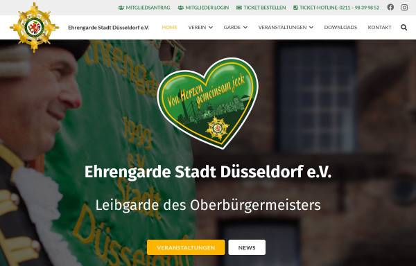 Vorschau von ehrengarde-duesseldorf.de, Ehrengarde Düsseldorf 1999 e.V.