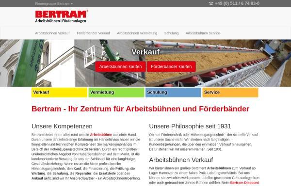 Vorschau von www.bertram-hannover.de, Gustav Bertram GmbH