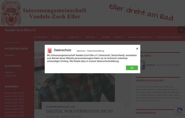 Vorschau von www.veedelszoch-eller.de, IG Veedels-Zoch Eller e.V.