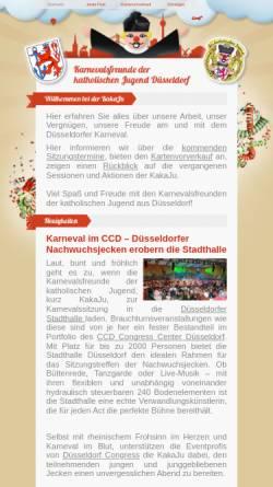 Vorschau der mobilen Webseite www.kakaju.de, Karnevalsfreunde der katholischen Jugend