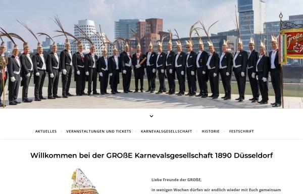 Vorschau von www.grosse1890.de, Karnevalsgesellschaft 1890