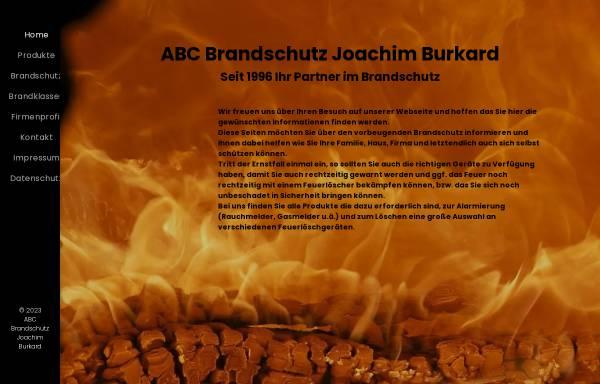Vorschau von www.abc-brandschutz.eu, ABC Brandschutz Joachim Burkard