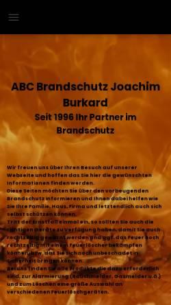 Vorschau der mobilen Webseite www.abc-brandschutz.eu, ABC Brandschutz Joachim Burkard