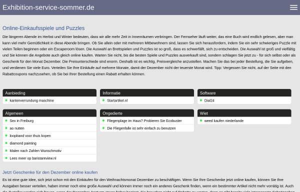 Vorschau von www.exhibition-service-sommer.de, Exhibition-Service-Sommer UG