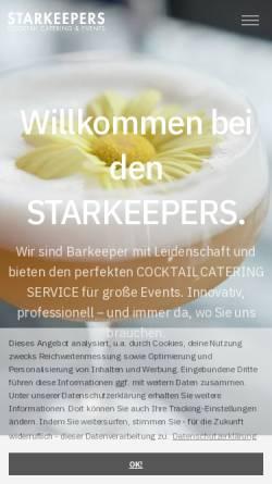 Vorschau der mobilen Webseite www.starkeepers.de, Starkeepers