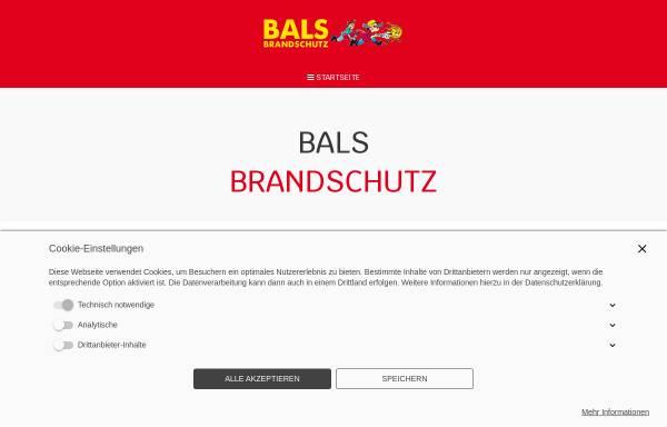 Vorschau von www.brandschutzerziehung.de, Bals Brandschutz GbR
