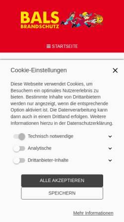 Vorschau der mobilen Webseite www.brandschutzerziehung.de, Bals Brandschutz GbR