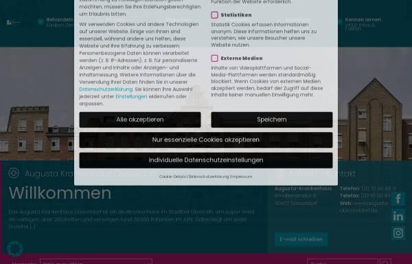 Vorschau von www.augusta-duesseldorf.de, Augusta Krankenhaus