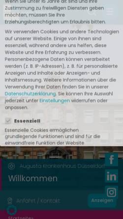 Vorschau der mobilen Webseite www.augusta-duesseldorf.de, Augusta Krankenhaus