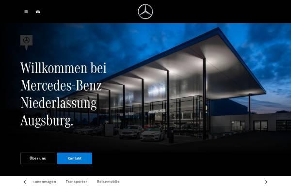 Vorschau von www.mercedes-benz-augsburg.de, Mercedes-Benz Niederlassung Augsburg