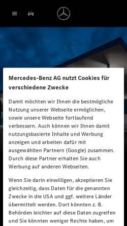 Vorschau der mobilen Webseite www.mercedes-benz-augsburg.de, Mercedes-Benz Niederlassung Augsburg